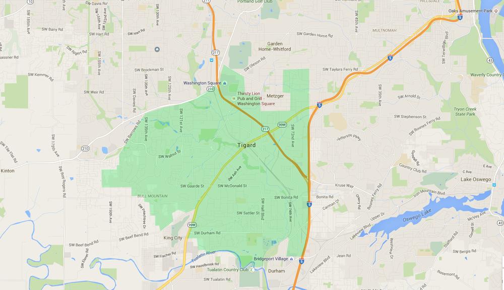 Tigard neighborhoods -