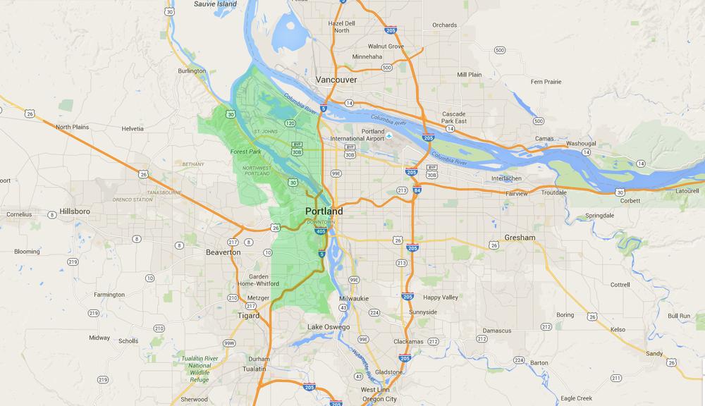 West Portland neighborhoods -
