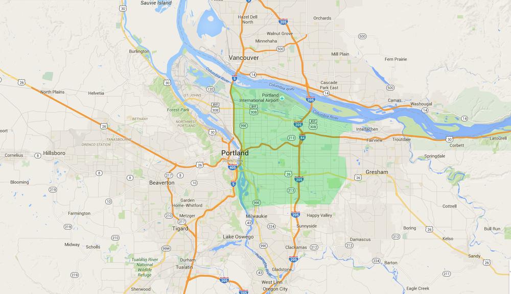 East Portland neighborhoods -