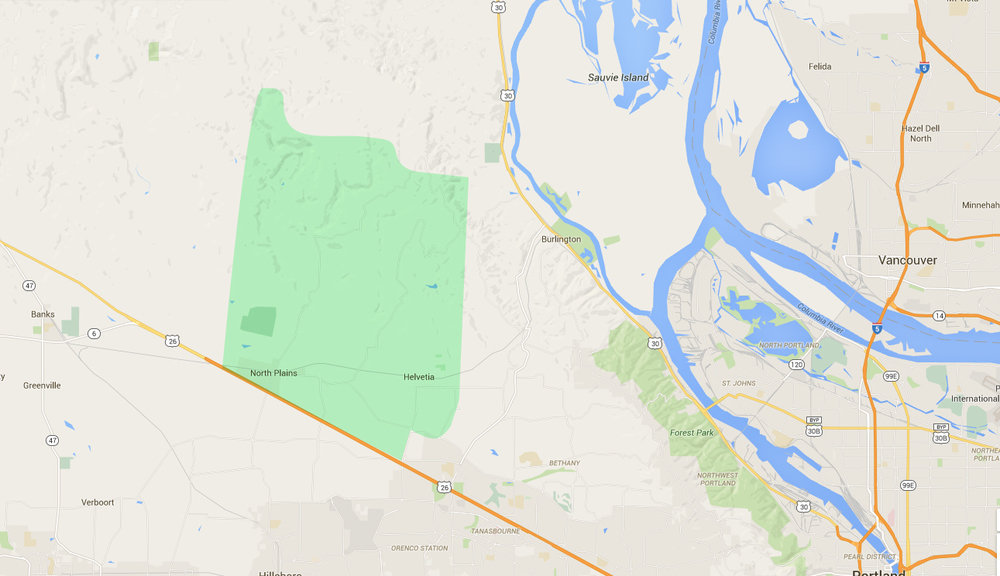 map of houses in helvetia hillsboro neighborhood