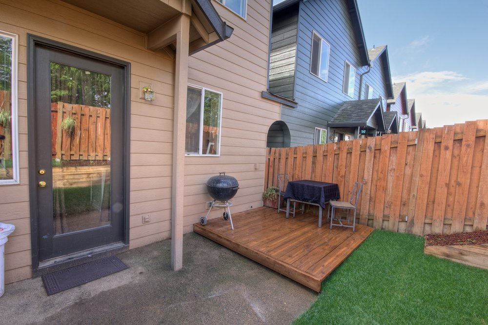 Back patio of a house for sale in Gresham, Oregon