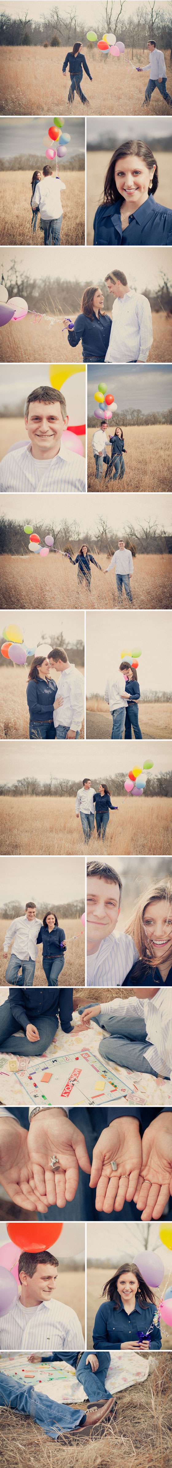 Balloons Engagement Session Vintage Engagement Session Sioux Falls, South Dakota Engagement Session