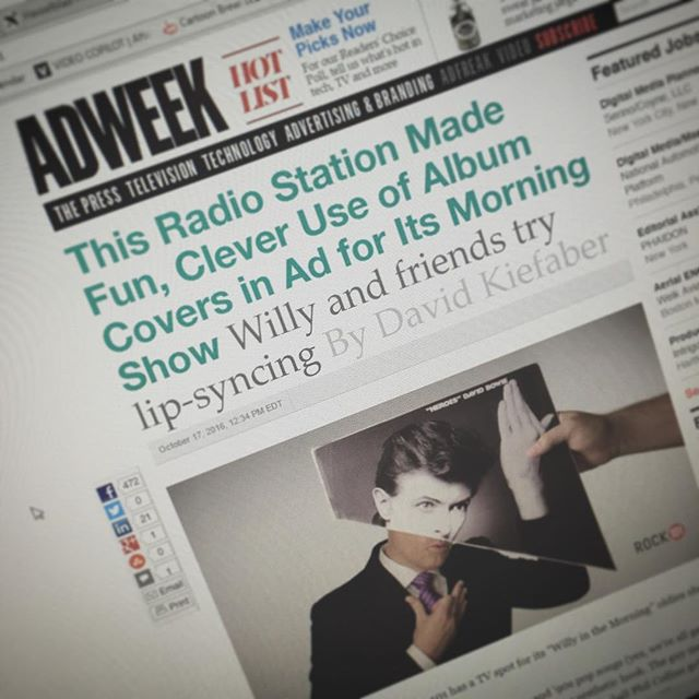 Rock 101 spot on @adweek