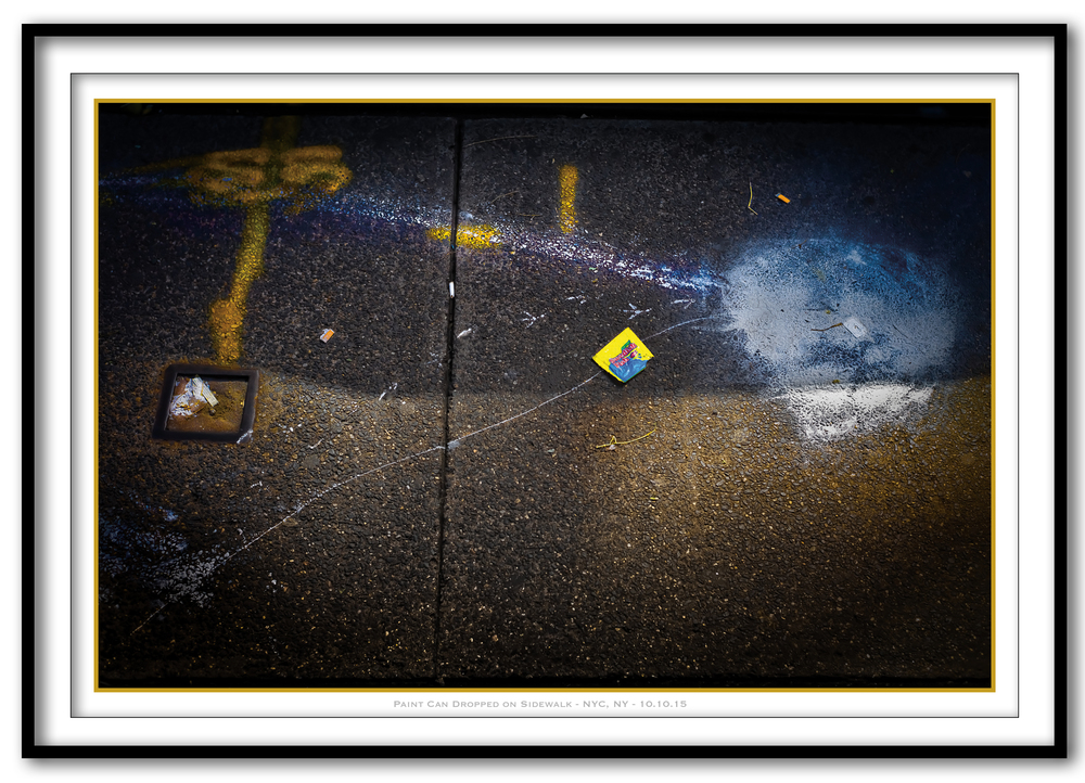 Paint Can Dropped On Sidewalk - NYC, NY - 10.10.15 - Framed.jpg