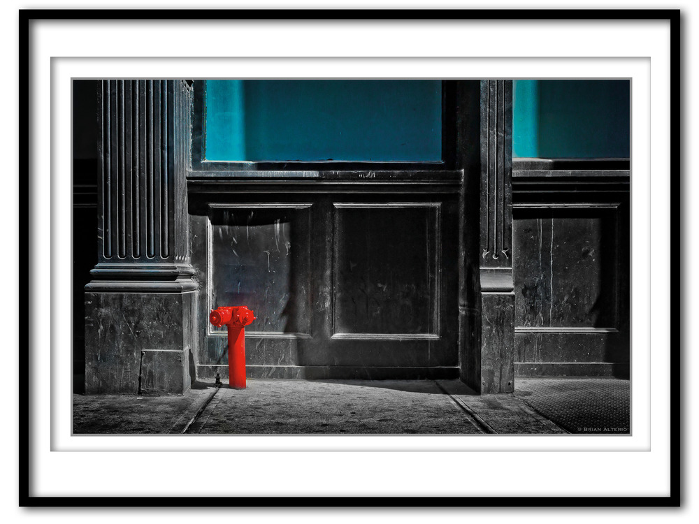 Red Fire Hydrant, East 22nd St, NYC, NY - 4.19.16 - Framed.jpg