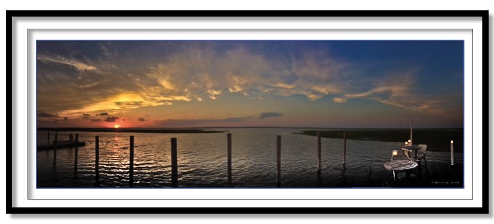 Quogue Bay Sunset - 6.5.16 - Framed.jpg