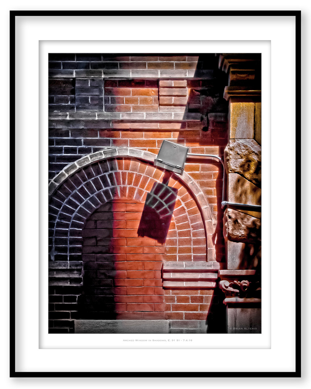 Arched Window in Shadows, E. 91 St - 7.4.16 - Framed.jpg