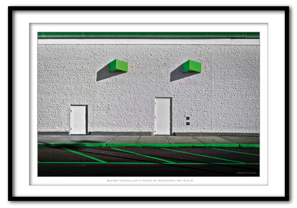 BestBuy Parking Lot in Green #4, Watertown, MA 12.6.16 - Framed.jpg