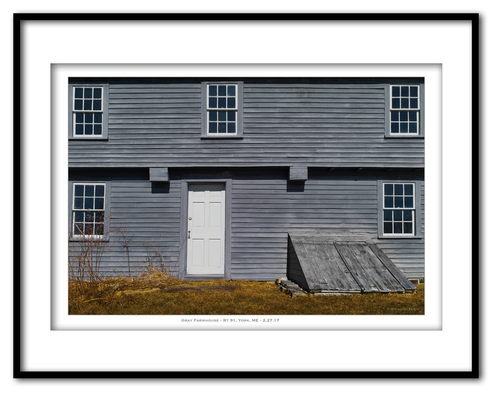 Gray Farmhouse, Rt 91 - 2.17.17- Framed.jpg