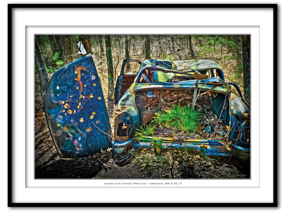 Junked Car Target Practice - Uxbridge, MA 3.16.16 - Framed.jpg