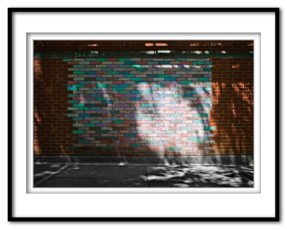 Brick Wall with Chalk - NYC 6.25.17- Framed.jpg