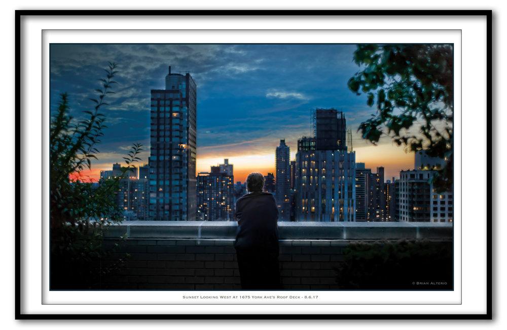 Sunset At 1675 York Ave's Roof Deck - 8.6.17- Framed.jpg