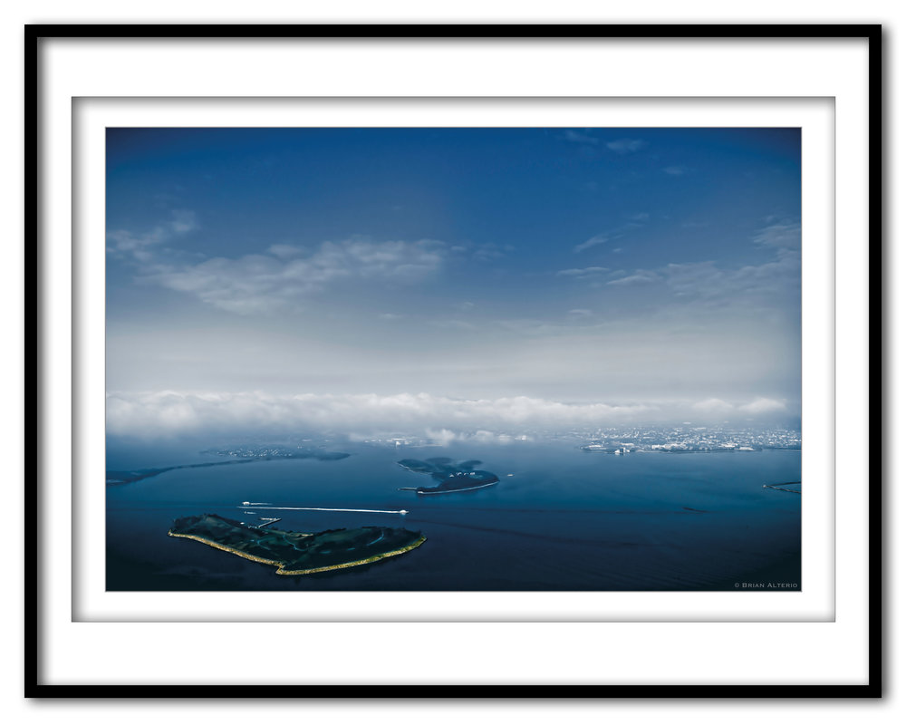 Boston Harbor At Take Off #5d - 8.1.17 - Framed.jpg