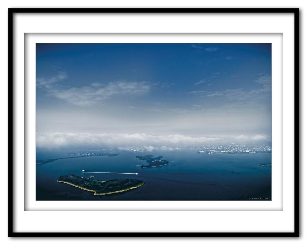 Boston Harbor At Take Off #5d - 8.1.17 - Framed.jpg