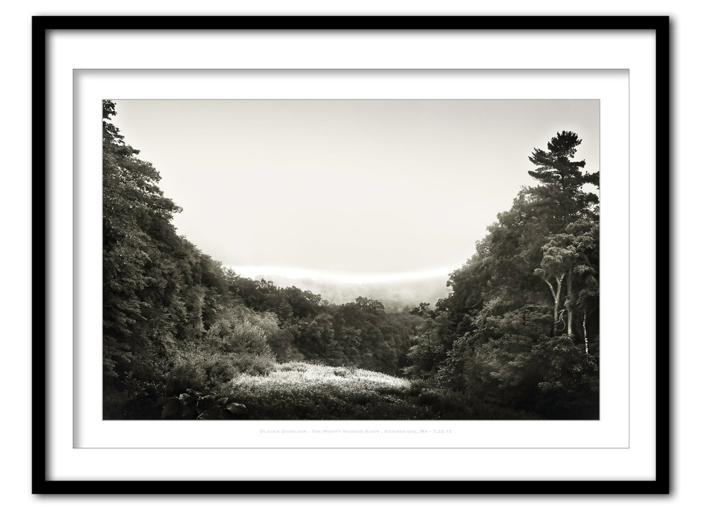 Olivia's Overlook  In Fog - Stockbridge, MA #2 - 7.19.15- Framed.jpg