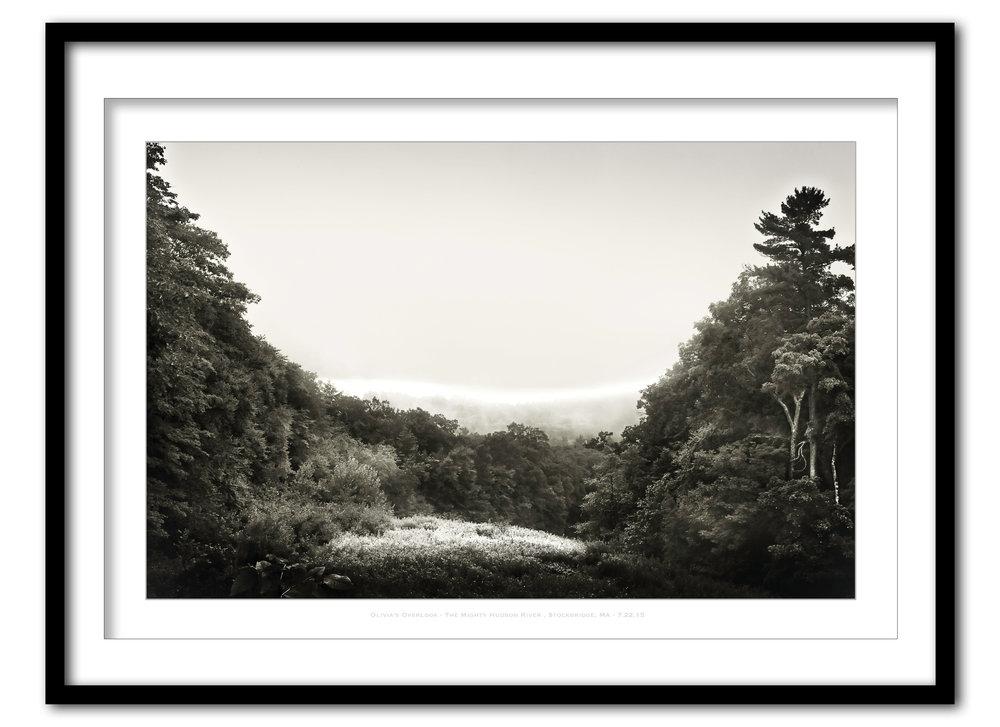 Olivia's Overlook  In Fog - Stockbridge, MA #2 - 7.19.15- Framed.jpg