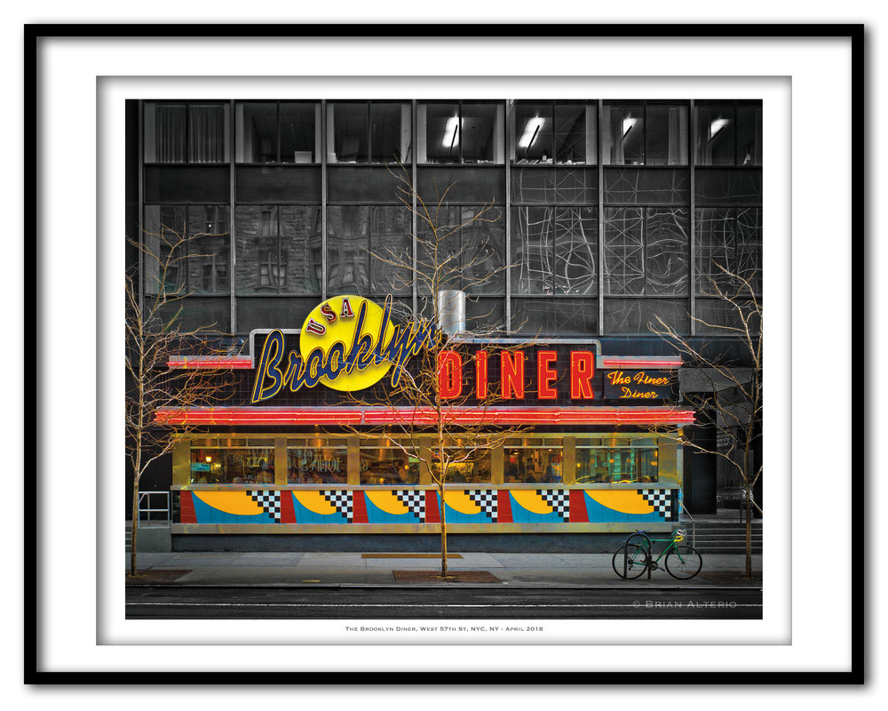 The Brooklyn Diner, West 57th St, NYC, NY - April 2018-Framed.jpg