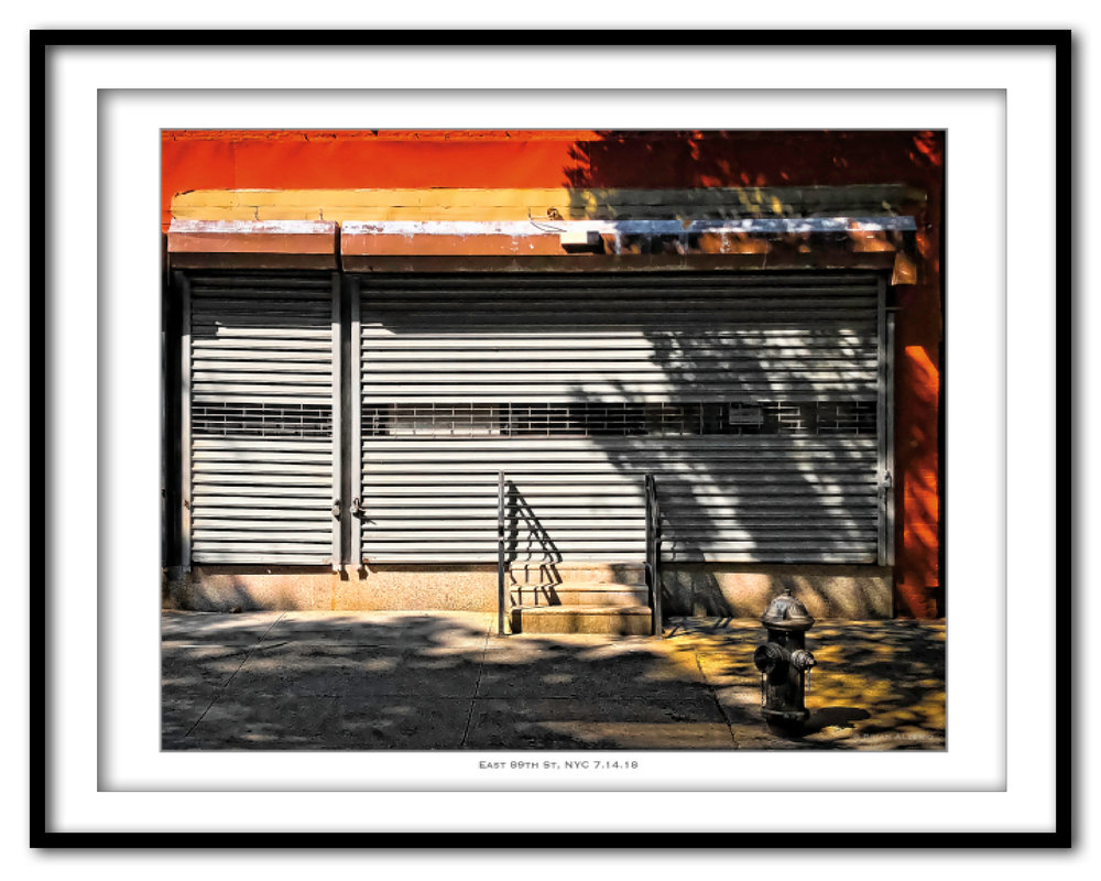 East 89th St , NYC, - July 17, 2018 - Framed.jpg