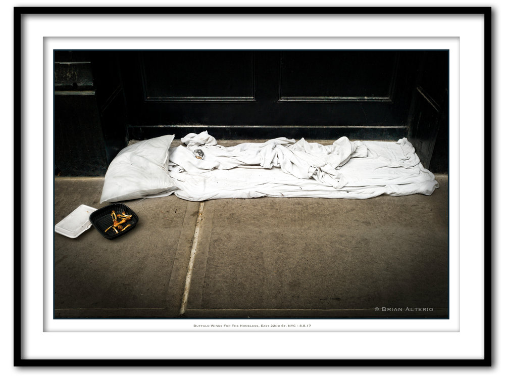 Bufalo Wings For The Homeless, East 22nd St, NYC - 8.8.17 - Framed.jpg