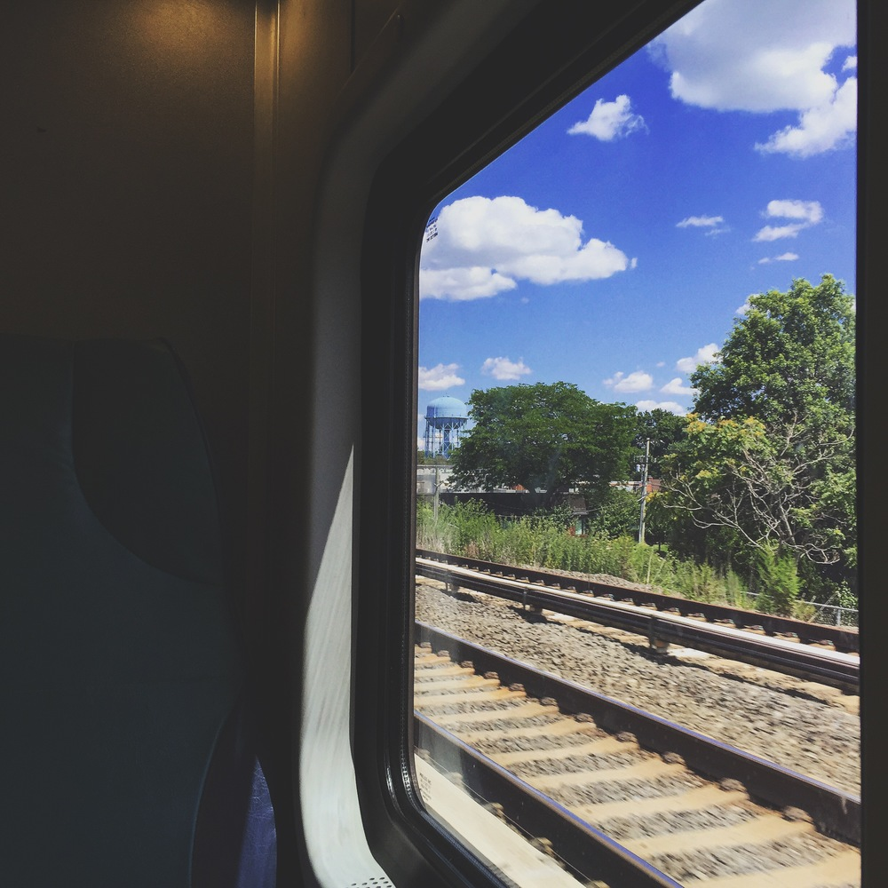 I rarely take the LIRR, but i did that day for a shoot on LI. The clouds were nice.