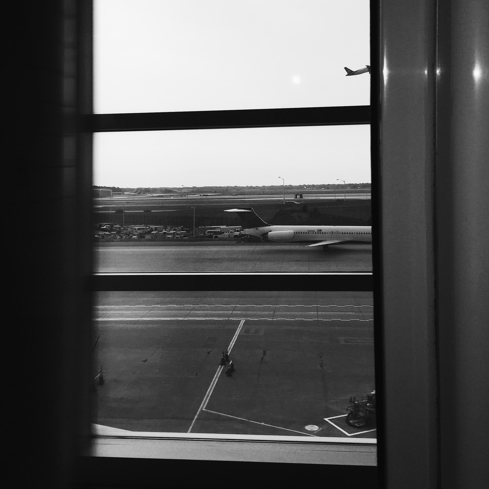 window at JFK airport on my way to Ann Arbor MI to shoot a wedding