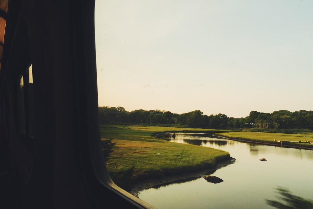 I took an amtrak back from Rhode Island in the very very beginning of summer and it was a beautiful ride.