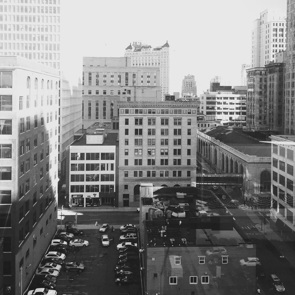 View of Detroit from my Hotel window