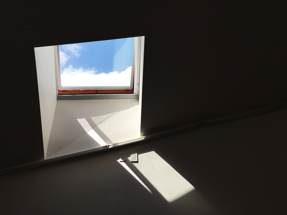 a skylight in a studio