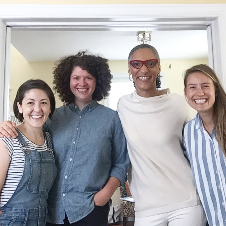 Me, Grace, Julia and Carla Hall!!!! Such a fun shoot/afternoon in DC with these guys!