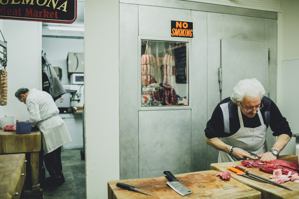 Dominic, the butcher.  Sulmona Meat Market, Boston