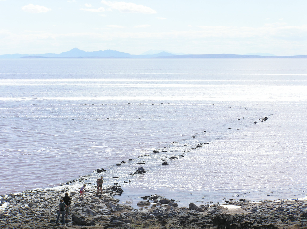 What the Spiral Jetty actually looked like, 2006 Photo: Elaine Parks