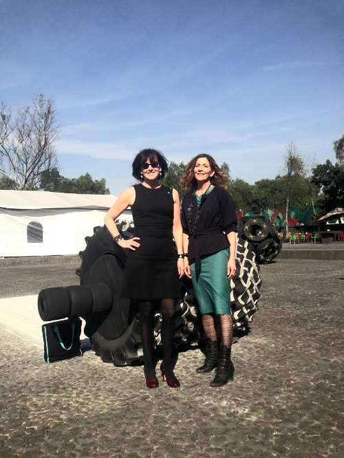 On the road: Maureen Mullarkey,  Chair of the NMA's Collections Committee,  and curator JoAnne Northrup at   Museo Anahuacalli in   Mexico City     PHOTO: Courtesy JoAnne Northrup