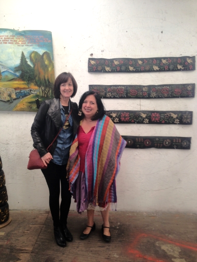 Maureen Mullarkey with Betsabee Romero at the artist's studio in Mexico City
