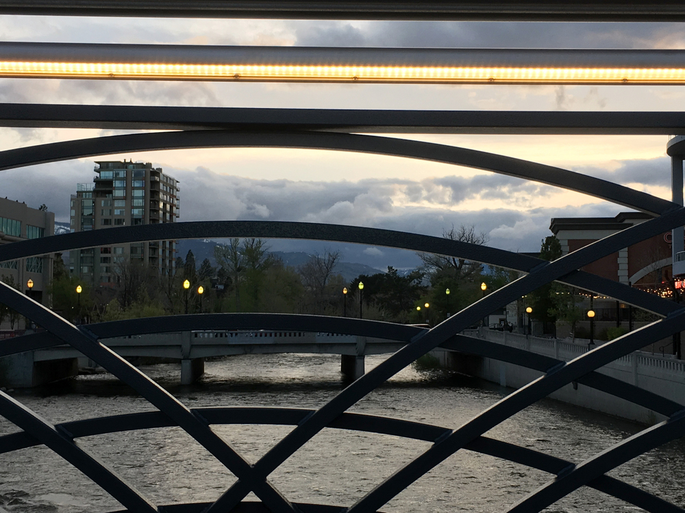 The new bridge has flourishes aplenty, including Deco-esque railings and snazzy lighting.