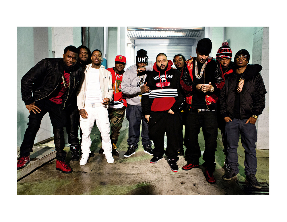 "Everybody on set of ""Paranoid - Remix"""