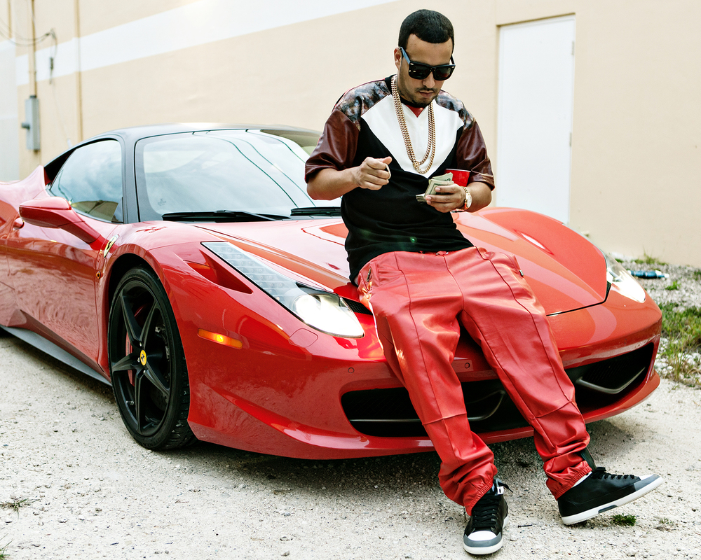 "French Montana on set of ""We up in Here"""