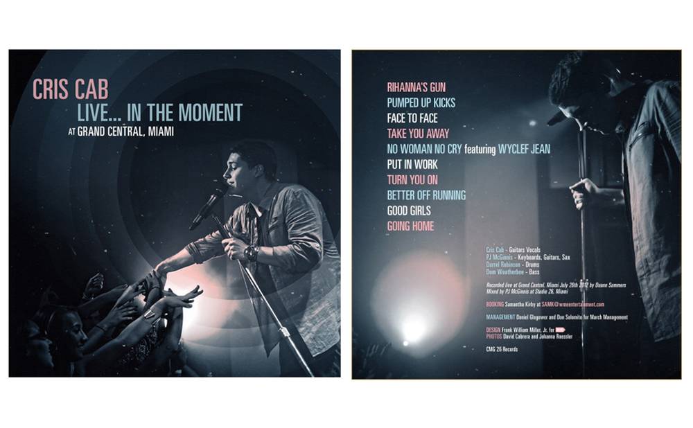 """Cris Cab - """"Live in the Moment"""" - Covers"""