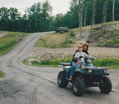 ATV fun at Aunt Carla's