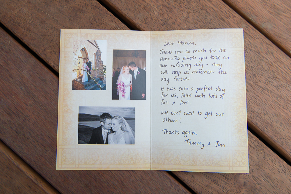 "Tammy & Jan  ""Thank you so much for the amazing photos you took on our wedding day"""