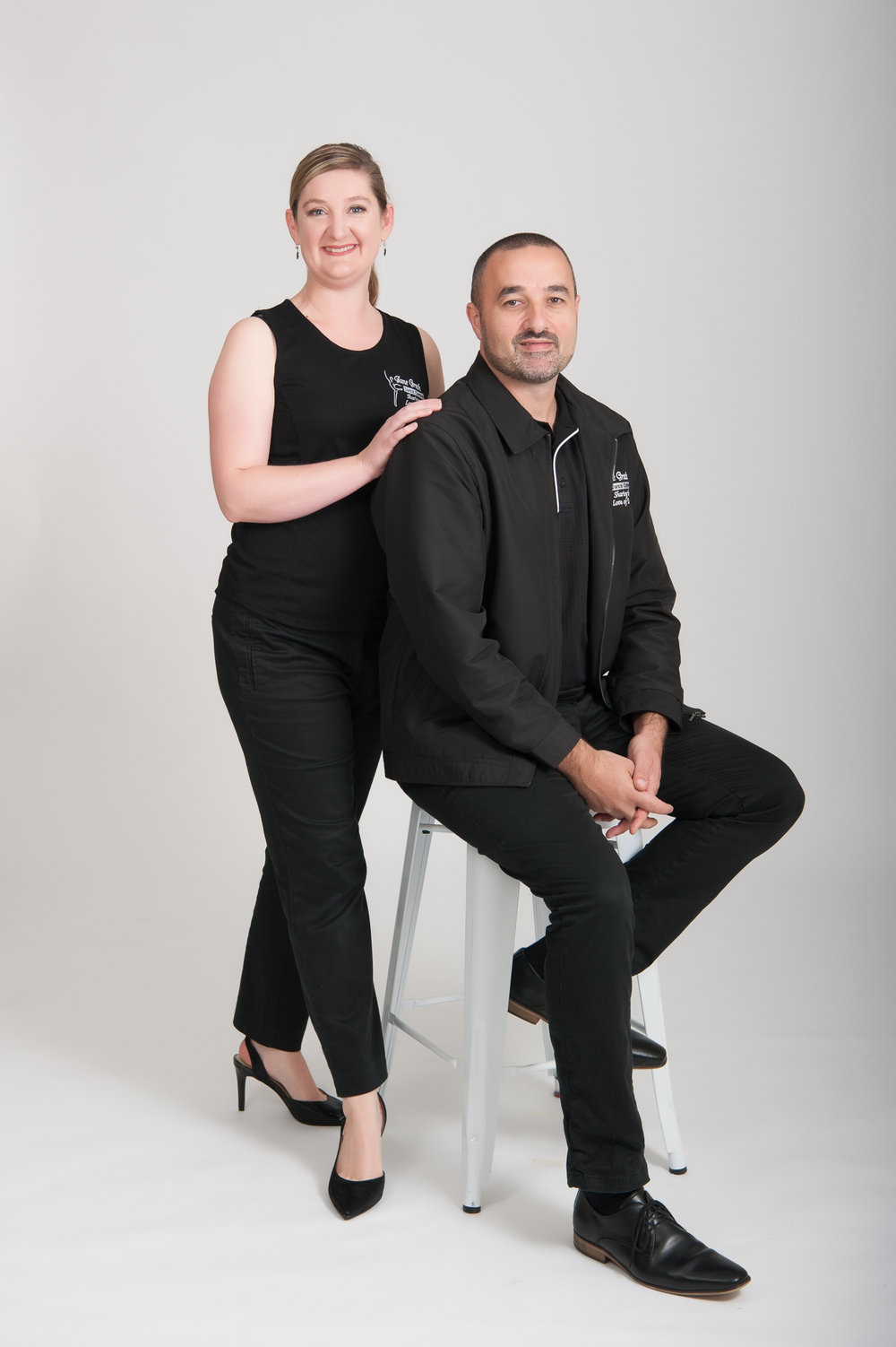 Full length head to toe studio business portrait