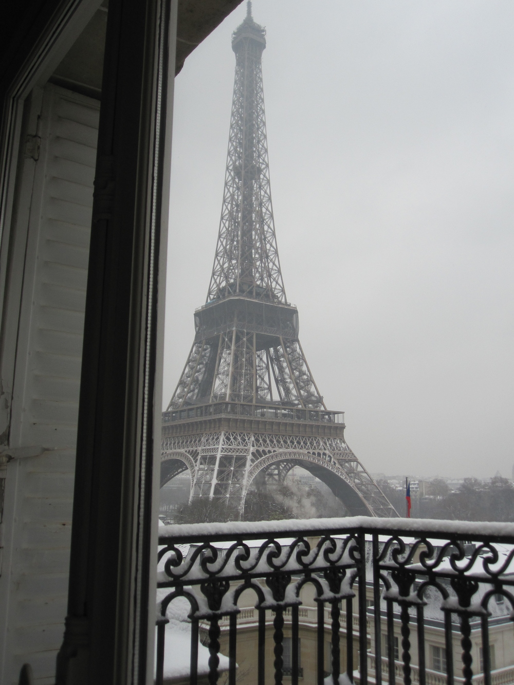 White Paris...view from my friend's apartment.