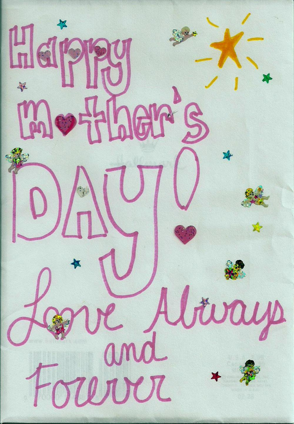 Card my children made for me when they were in grade school.