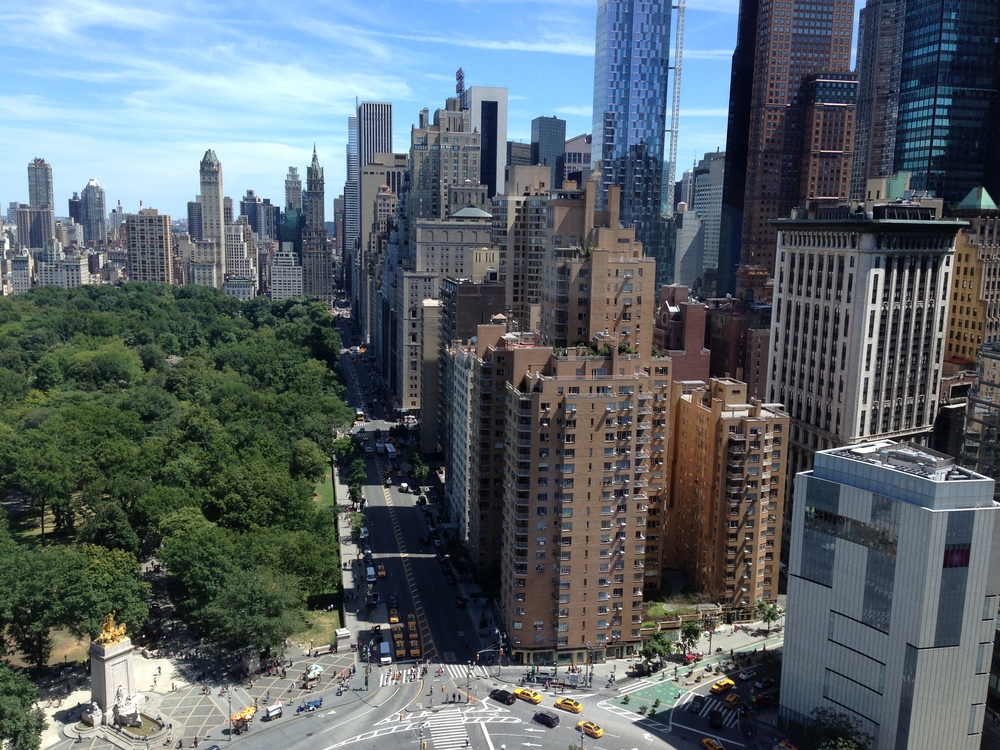 Beautiful view from my hotel room of NYC.
