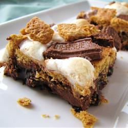 Holy Moly! S'more Brownies!! LIZALOUISE posted this photo and recipe on www.allrecipes.com