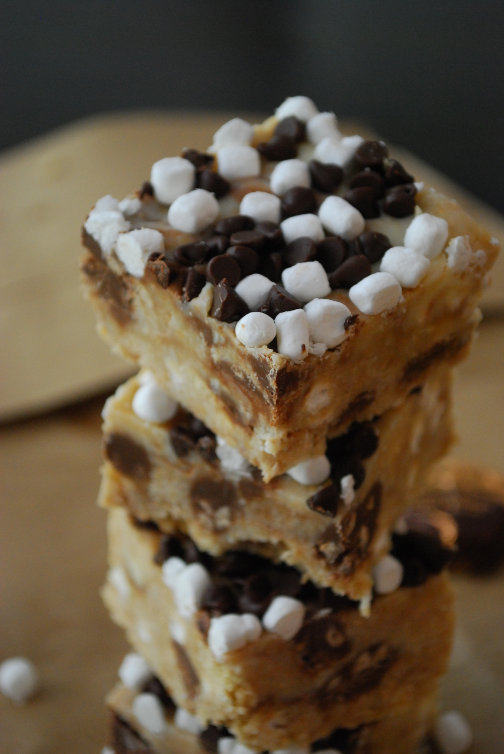 I'm on the fence with these but it looks AMAZING!! The reason I am on the fence is because I believe s'mores should have roasted burnt gooey marshmallows! =) But this is a No Bake S'mores Bar - www.thedomesticrebel.com