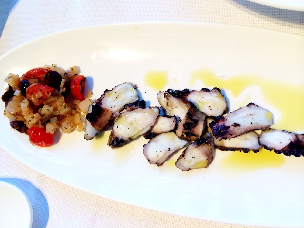 Charred octopus.