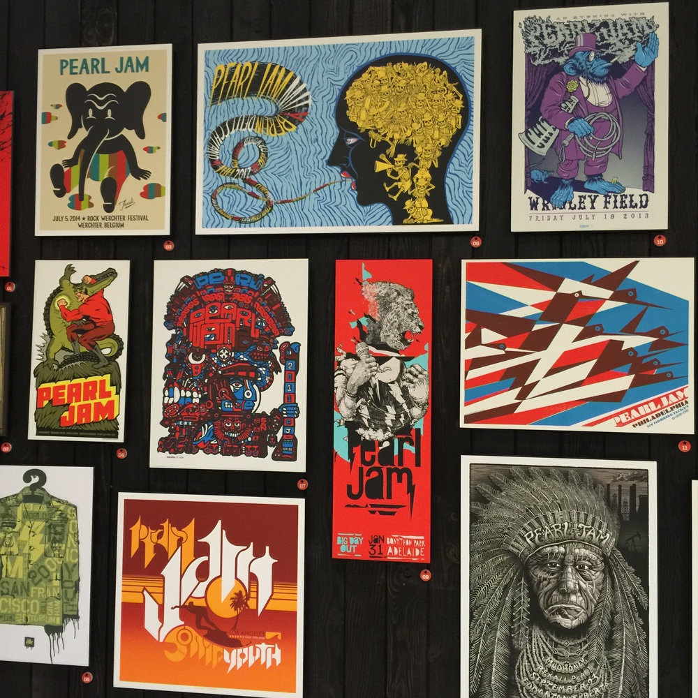 Neat Pearl Jam Art Display In SEA