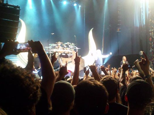 Amon Amarth brought a Viking ship stage and two roadies who wore full viking regalia