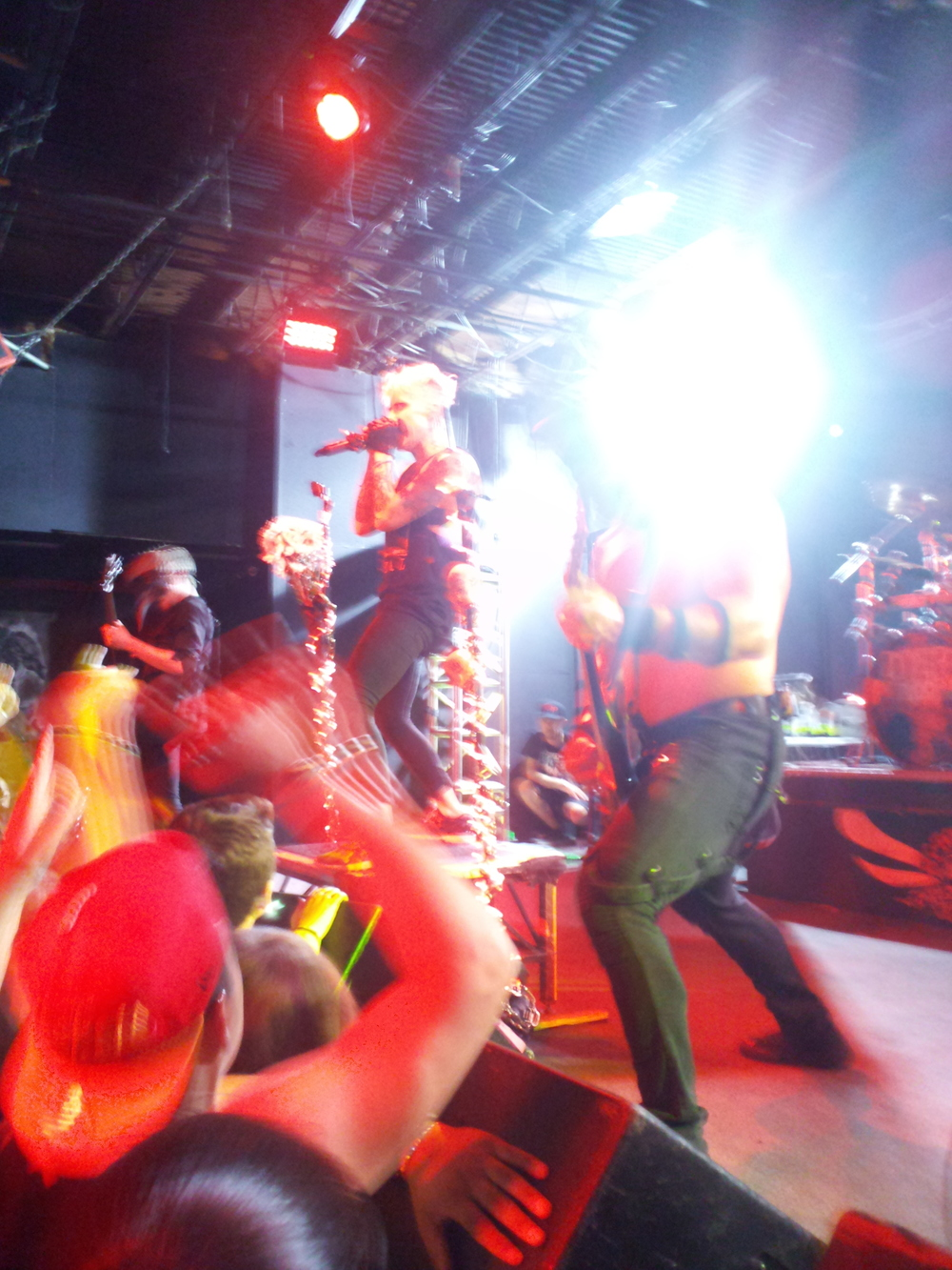 Frontwoman Otep Shamaya is five-foot-nothing but had an amazing stage presence and riled everyone up. Her energy was clichedly-electrifying.