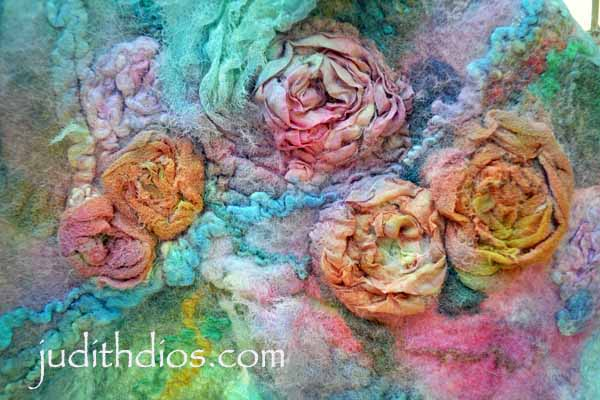 Coral & Magenta Roses on Turquoise
